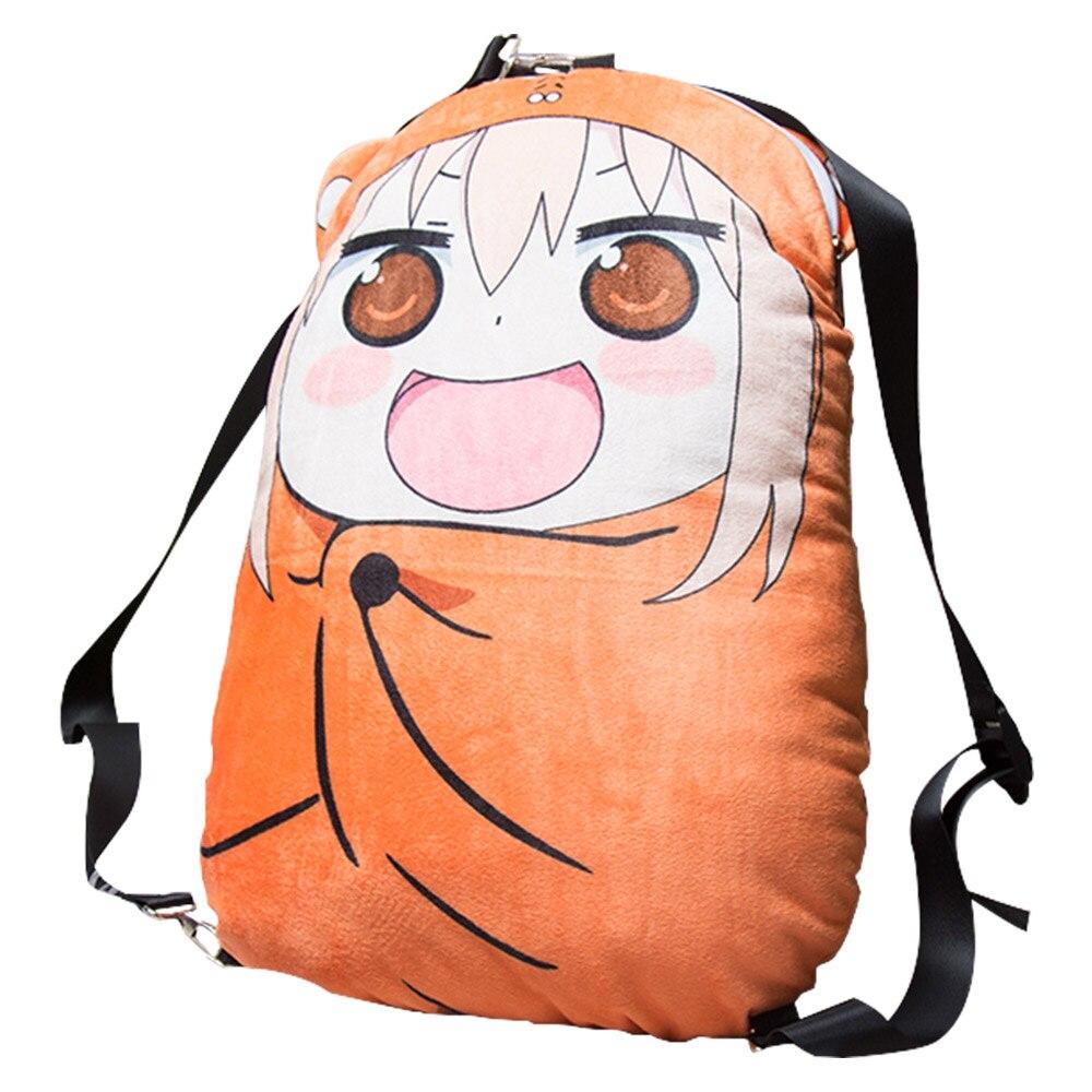 Himouto! Umaru-chan Bag pillow plush toy Anime Doma Umaru chan backpack zip up Cushions Cosplay Doll