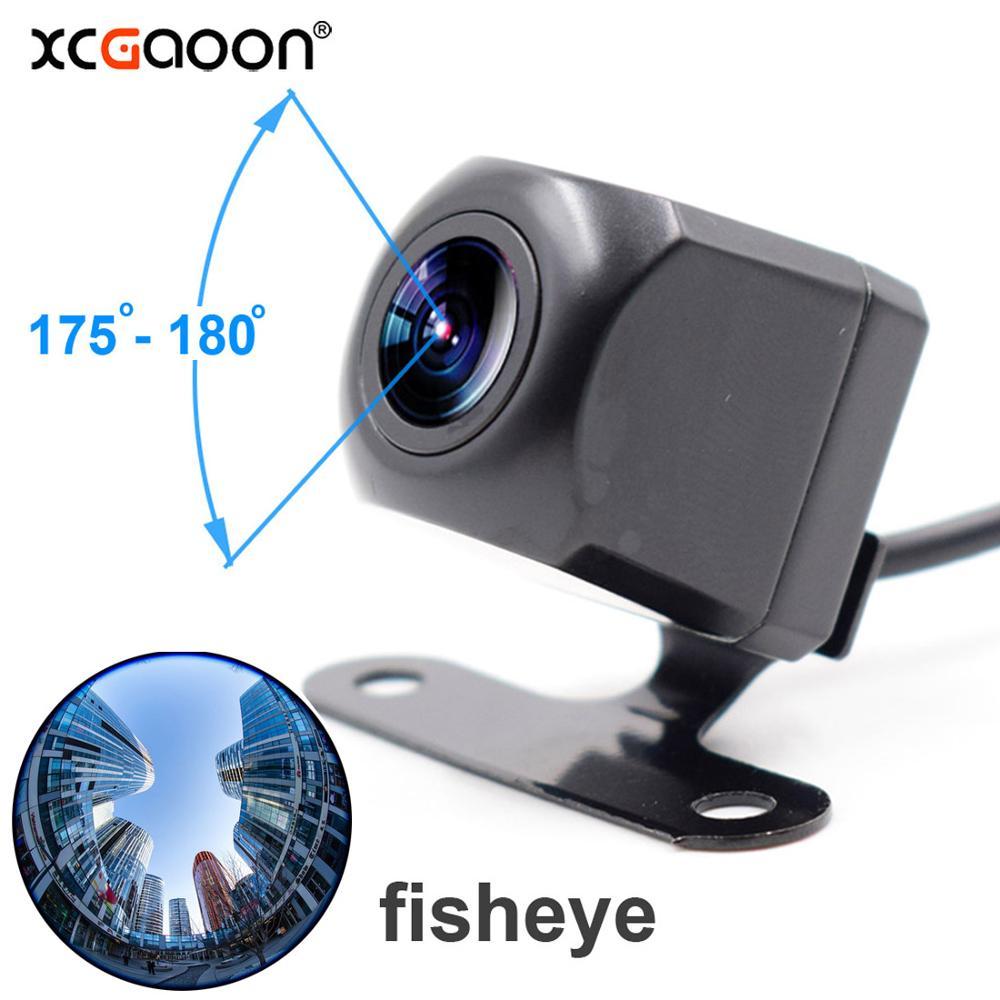 XCGaoon Metal CCD 180 degree Fisheye 4 Layers Glass Lens Car Camera Rear View Wide Angle Backup Camera Night Vision Waterproof