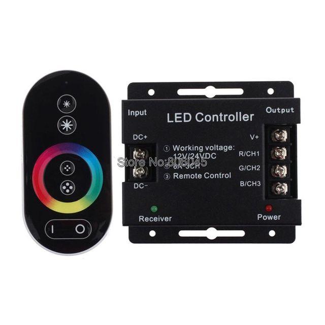 3ef4ba14928 DC12V 24V 18A 6Ax3CH RF Wireless Touch Panel Remote RGB Controller for 5050  3528 SMD RGB