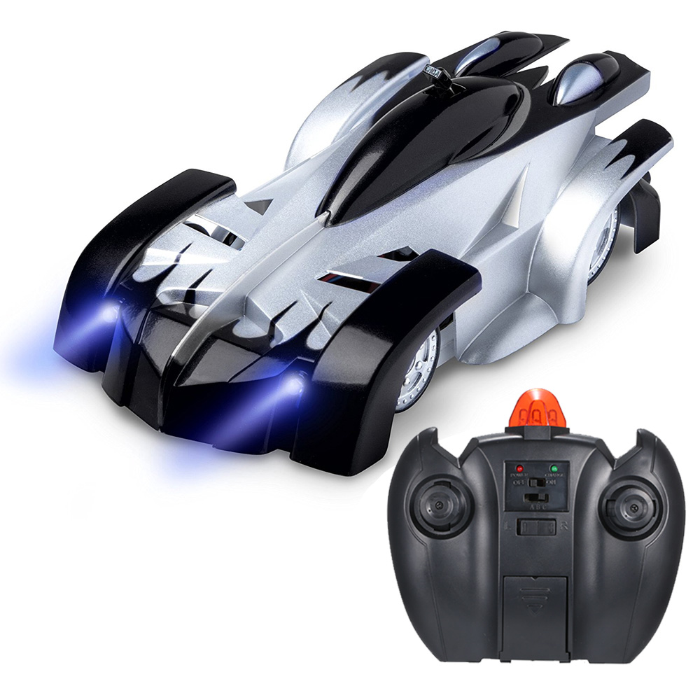 RC Car Wholesale Remote Control Wall Climbing with LED Lights 360 Degree  Rotating Stunt Toys Antigravity Machine Wall Racer