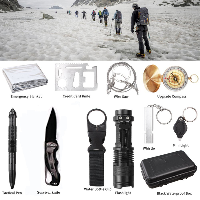 Tactical Survival Kit Set 11 in 1