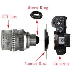 Image 5 - حلقة مهايئ C حلقة ماكرو لعدسة الفيلم لـ C FX C PQ C EOSM C N1 NEX/3 عدسة فيلم CCTV