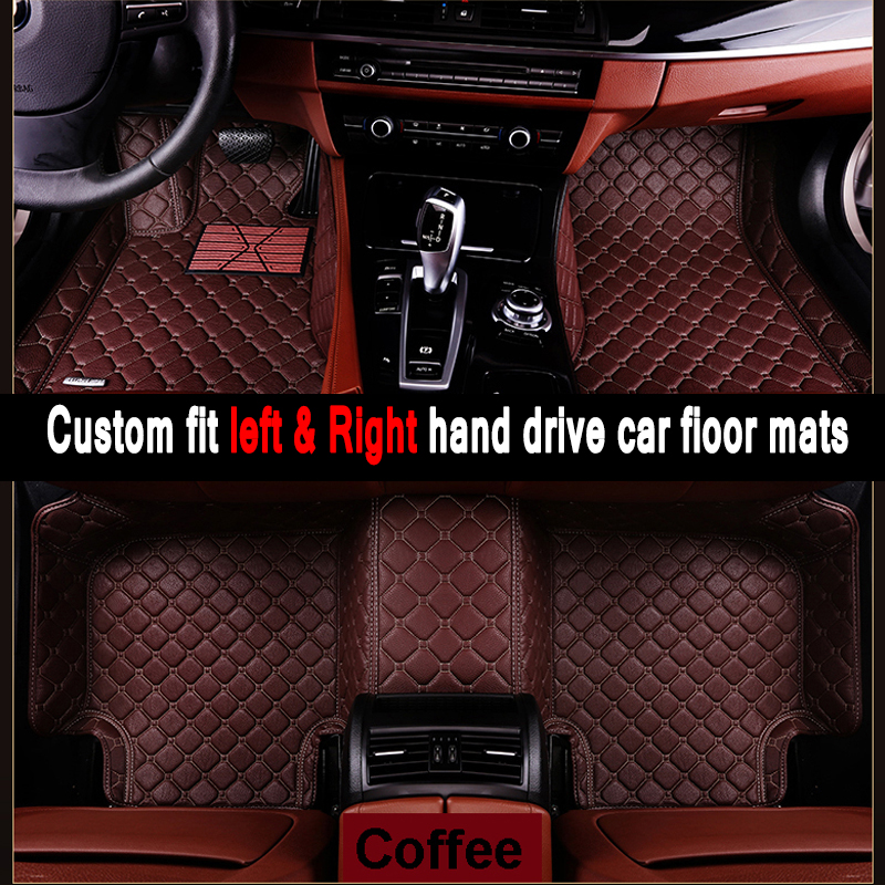 Car mats Custom fit car floor mats for Volkswage CC EOS TSI UP Caravelle Gran Lavida Cross car styling rugs floor liners