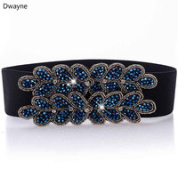 Dwayne Fashion Luxury Beauty Gorgeous Handmade Beaded Strap 2 Colored High Quality Designer Elastic Waistband For