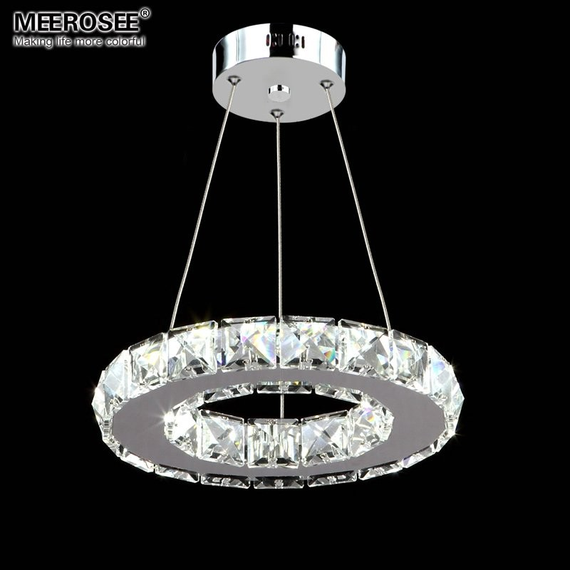 LED Crystal Pendant Light Fixture Aisle Porch Hallway Lamp Crystal Ring Lustres Hanging Lighting 100% Guarantee