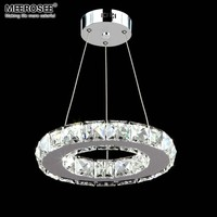 LED Crystal Pendant Light Fixture Aisle Porch Hallway Lamp Crystal Ring Lustres Hanging Lighting 100% Guarantee