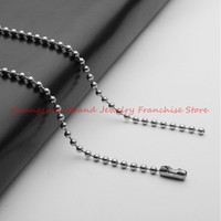 16 40 Hot 100pcs/Lot DIY Ball Bead Chain Silver Stainless Steel 1.5mm Width Link Chain Hanging Pendant Necklace, Wholesale