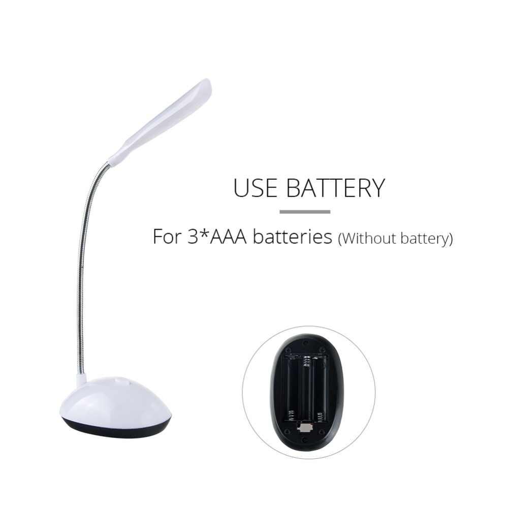 EeeToo светодиодный ночник дети Спальня гибкий Регулируемый Портативный настольная лампа для чтения лампочки на батарейках для детей 4 цвета