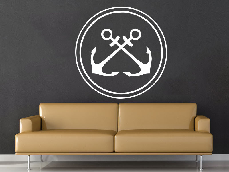 Nautical Anchor Wall Decal Removable Wall Stickers For Kids Rooms Kid Nursery Bedroom Home Decor ...