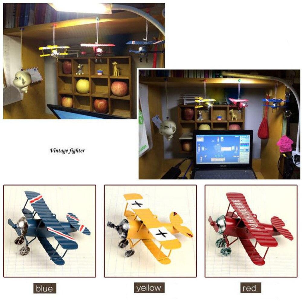 Винтажная металлическая модель самолета Железный ретро самолет планер биплан подвеска модель самолета игрушка домашнее рождественское ук...
