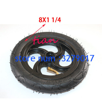 free shipping 8x1 1/4 Pneumatic Wheel Inner Tube 8 Air Outer Tire 8x1.25Inflatable tyre