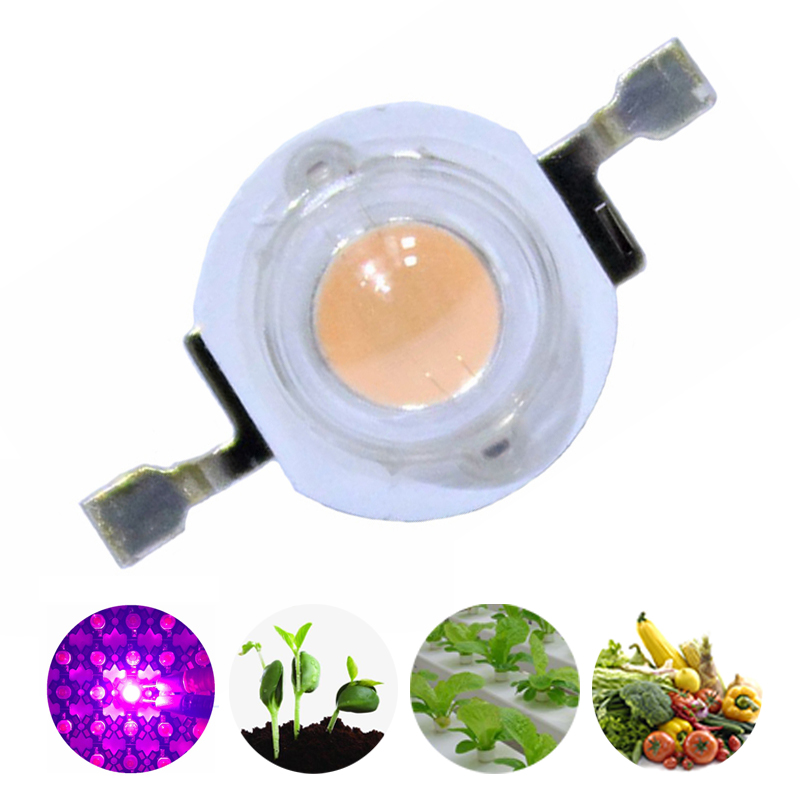 200PCS/lot <font><b>3W</b></font> 45mil 380nm-840nm 3.2-3.6v <font><b>700mA</b></font> Full Spectrum <font><b>LED</b></font> Grow Light Diodes For Plant Grow Emitter Diode image