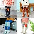 0-2 Anos de Idade As Crianças Meia-calça Da Criança Infantil Meias de Algodão de Moda Outono e Inverno Dos Desenhos Animados Listrado Calças Justas Do Bebê & meias