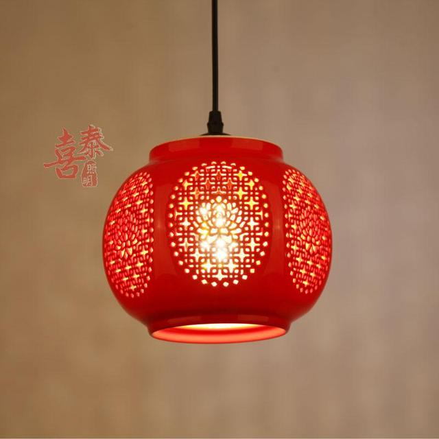 A1 china red lanterns on the balcony aisle entrance hall aisle lamp chinese ceramic small pendant lights home festive zs3 in pendant lights from a1 china red lanterns on the balcony aisle entrance hall aisle lamp chinese ceramic small pendant mozeypicture Images