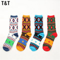1PCS Vintage style geometry High quality Men Cotton Socks Classic Business Brand Men's Socks Mens Socks for lovers MS0040