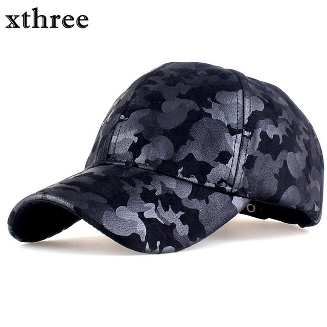 dec548a27bb Xthree camouflage baseball cap army snapback Hat for men Cap women gorra  casquette dad hat Wholesale