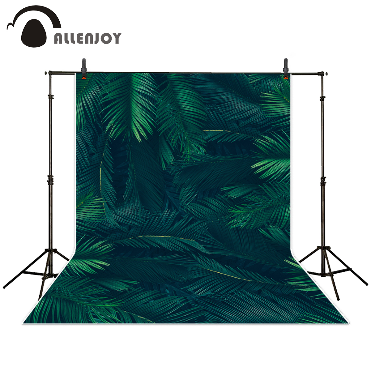 цены Allenjoy photography background tropical green leaves room decoration backdrop photobooth photo studio portrait shooting