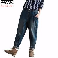 Winter Big Size Jeans Women Harem Pants Casual Trousers Denim Pants Fashion Loose Vaqueros Vintage Harem Boyfriend Jeans