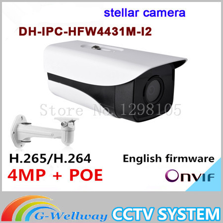 Dahua stellar camera 4MP Dahua-IPC-HFW4431M-I2 Network IP IR Bullet H265 H264 IPC-HFW4431M-I2 with Audio Free shipping цена