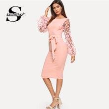 Plain Flower Applique Dress