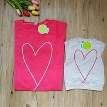 Woman Mother Kids Autumn Style Long Sleeve Heart Print Girl