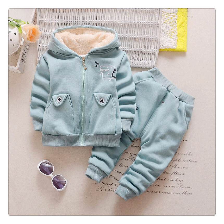 2 pcs baby boy winter clothes infant clothing set light blue boys warm plush coat girls winter jacket baby long pants trousers