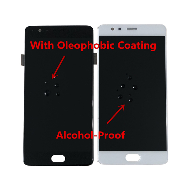 """AMOLED Original M&Sen 5.5"""" For Oneplus Three OnePlus 3 One Plus3 A3000 A3003 LCD Screen Display+Touch Panel Digitizer With Frame"""
