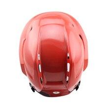 CE Certificate Ice Hockey Helmet&Mask Red Winter Hockey Sports Equipment