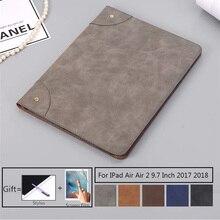 цена на Case for iPad Air 1 2 Retro Magnetic Stand Smart Cover Auto Sleep/Wake PU Leather Case for iPad 9.7