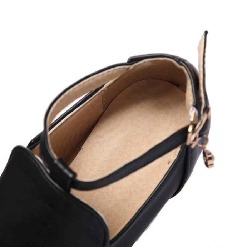 Zatsopano Marka Yeni Moda Ayak Bileği Kayışı Katı Çıplak Botlar platform ayakkabılar Kadınlar Için Rahat Sonbahar Pompaları 2018 Büyük Boy 34- 43