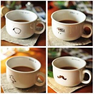 Free shpping 4 pcs/lot Zakka fresh vintage Small mini ceramic coffee cup lovers cup, coffee mugs, milk mugs A0025