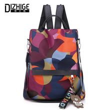 DIZHIGE Brand Luxury Waterproof Oxford Women Anti-theft Backpack High Quality School Bags For Multifunctional Travel Bag