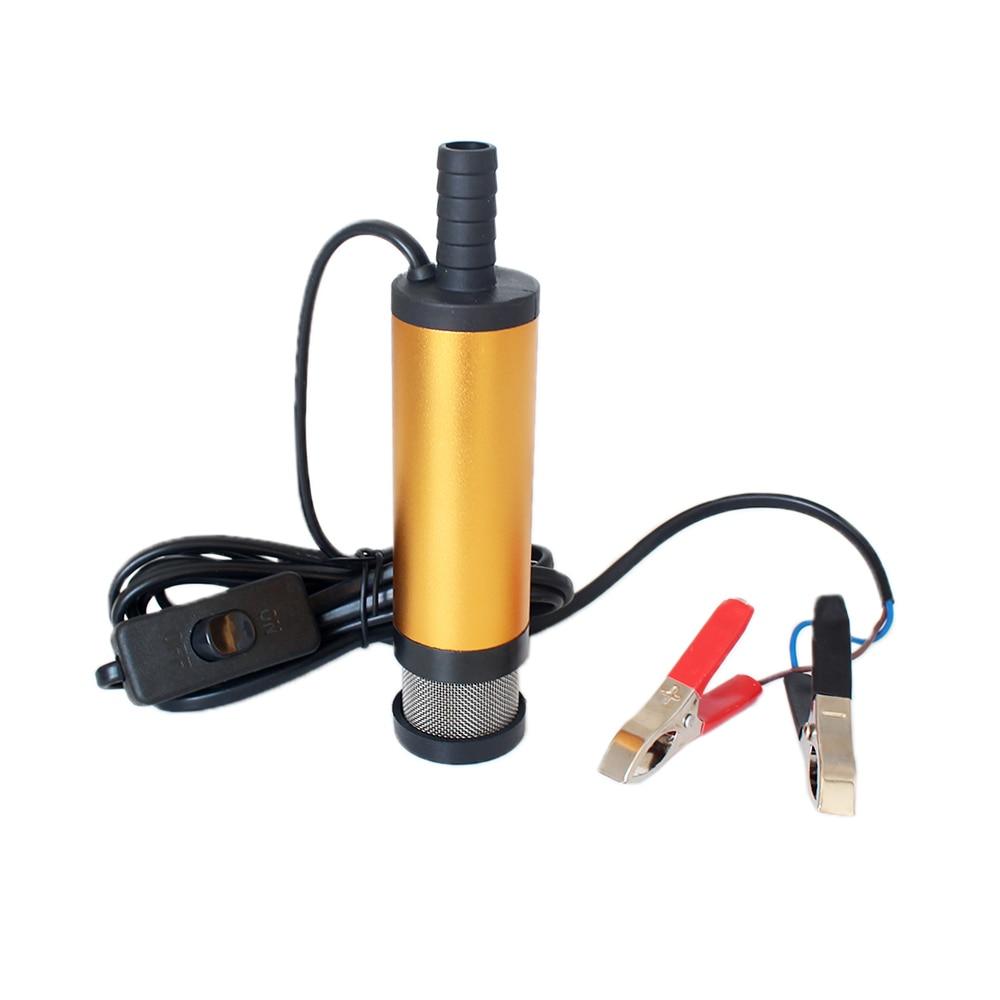 12V Aluminum Submersible Pump 38mm Water Oil Diesel Fuel Transfer 12 L//min Solid