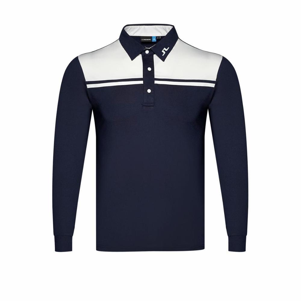 Cooyute chemise de Golf dernier printemps été JL Golf sport chemise manches complètes anti-boulochage complet Golf T-Shirt livraison gratuite