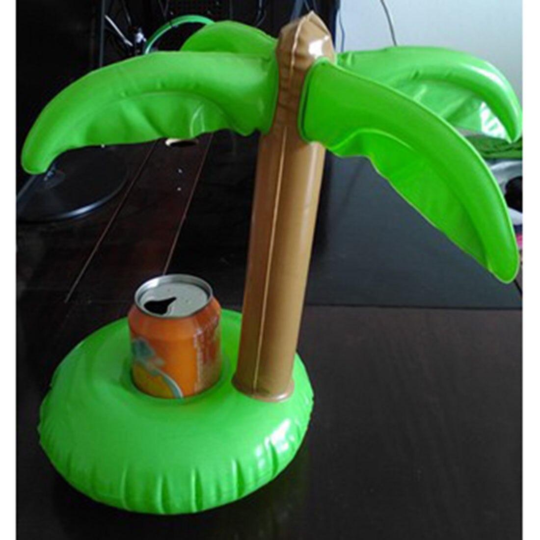 Модная зеленая Луау palm Ёлки надувные напиток может держатель бутылки Одежда заплыва Для ванной для пляжной вечеринки бассейн детский Игруш...