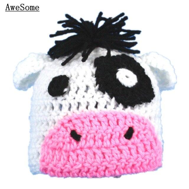a5b6ad229cf Cute White Black Cow Hat