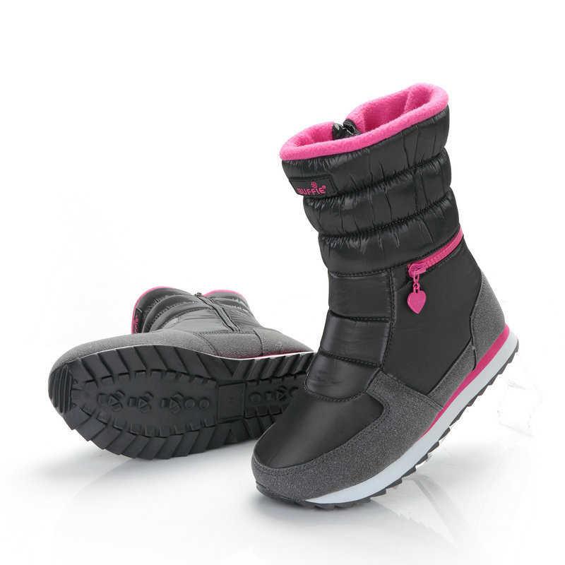 Kadın kar botları 2019 platformu kalın peluş kış ayakkabı fermuar su geçirmez kaymaz kadınlar kış çizmeler botas de mujer