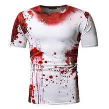 Tshirt Men Horror Red Blood T-shirt Punk Rock War Print T Shirt 3D Hip Hop Summer Streetwear Women Plus Size Tee Shirts Tops