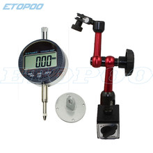 0-25.4mm Electronic Digital Dial Indicator 0-12.7mm/0.5'' 0.01mm With Magnetic Base stand Holder Gauge Caliper Measuring Tools(China)
