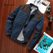 Мужская куртка бомбер DIMUSI, повседневная приталенная ветровка, бейсбольная куртка, одежда для осени и зимыКуртки    АлиЭкспресс