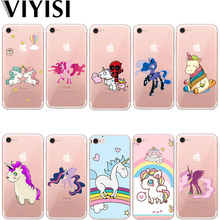 For Apple iPhone 7 case iphone X XS MAX XR 8 6 6S Plus case 5 5S SE Phone Case Unicorn Cover TPU Silicone Back Coque Shell цена и фото