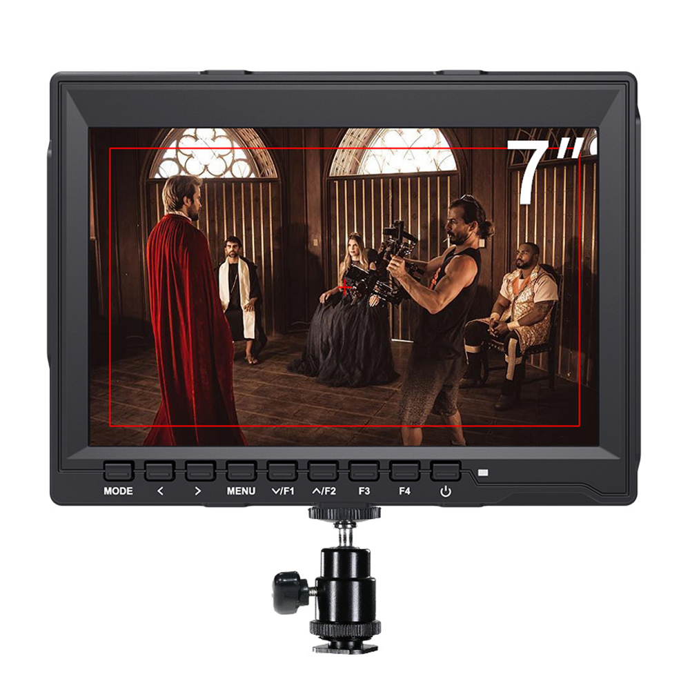 7 inch Field Monitor 4K HDMI Camera DSLR Monitor LCD IPS HD 1280x800 Video Assist External for Cameras Nikon Sony Canon Gimbal