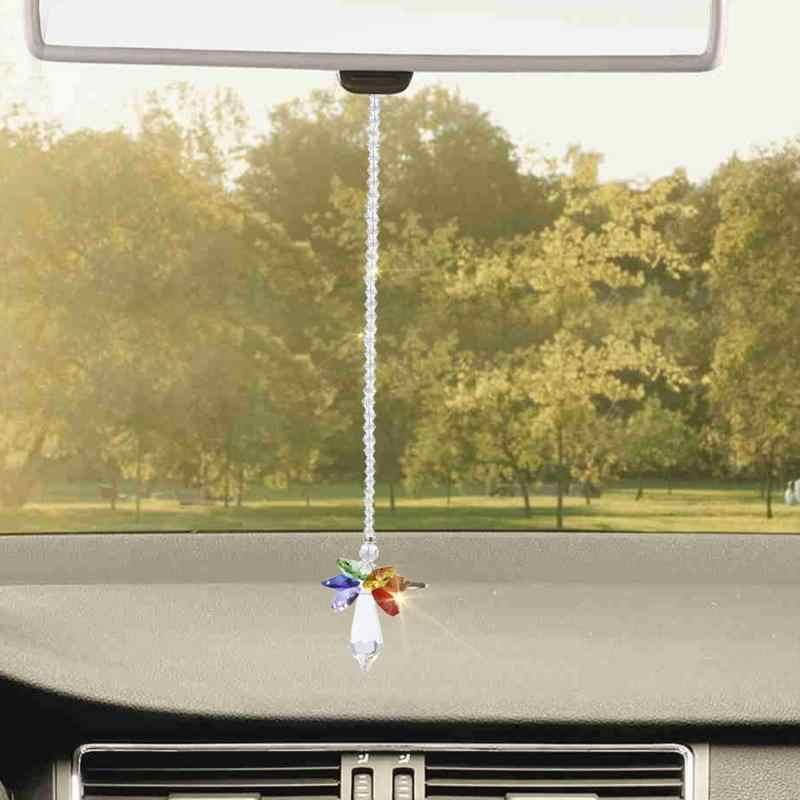 Ручной висит кулон Радуга кристалл призмы мяч люстра лампа Xmas Главная Декор окна