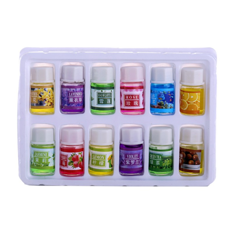 12 Pcs/set Skin Care Beauty Makeup Fragrance Essential Oils Pack For Aromatherapy Spa Bath Massage Essential Oil Cosmetics