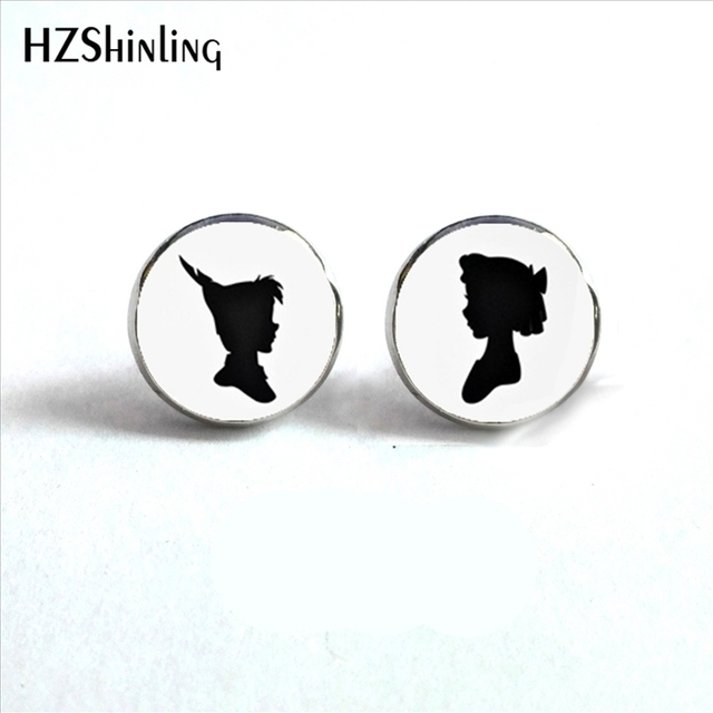 Ed 0011 New Arrival Peter Pan And Wendy Stud Earrings Handmade Cartoon Jewelry Hypoallergenic Surgical