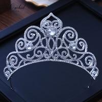 PEORCHID Crystal Wedding Crowns For Brides Hair Jewellery Corona Princesa Tiaras De Novia Grandes Rhinestone Bridal Tiara 2019