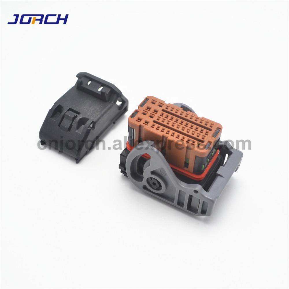 1 Set 48pin Way Ecu Automotive Connector Plug Female Molex Wire Brown Connectors