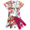 girls dress catimini  girl dress 2014  summer French catimini child short sleeve  dress sundress