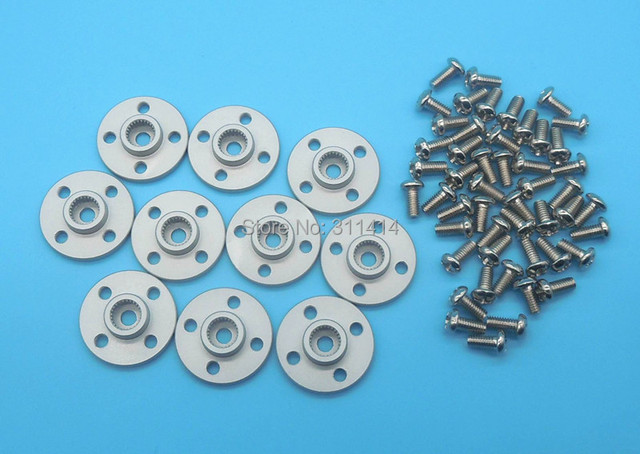 Free Shipping 10x Aluminum Holder 25T Servo Spare Parts For MG995 MG996 TR213 S3003 Or Other Standard Servo Wholesale
