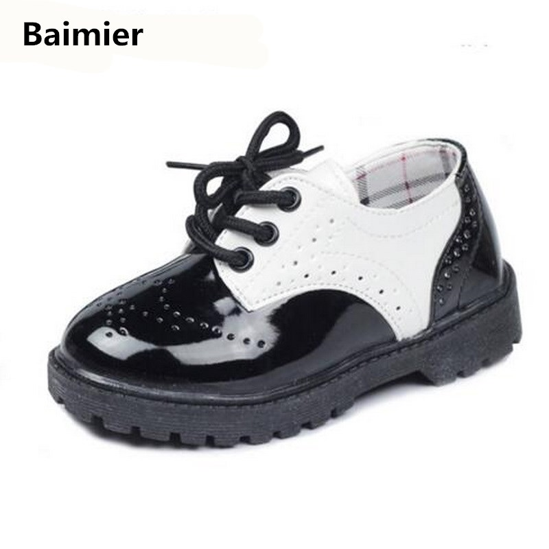 Baimier Autumn Kids Shoes For Girl Children Sneakers Male Female PU Leather Sneakers Boys Girls Sport Shoes Casual Toddler Shoes